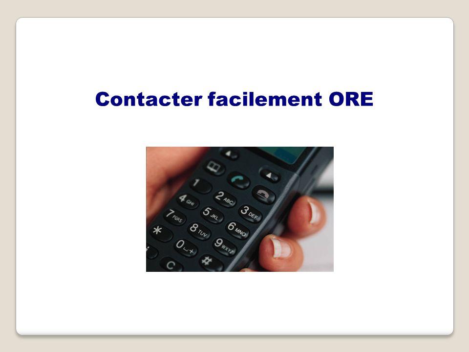 Contacter facilement ORE