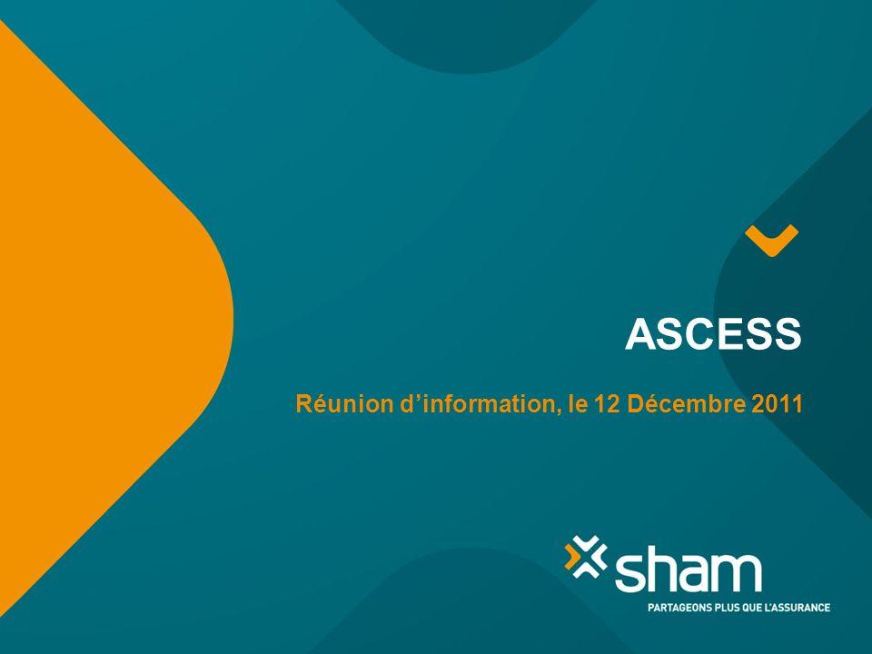 ASCESS Réunion dinformation, le 12 Décembre 2011