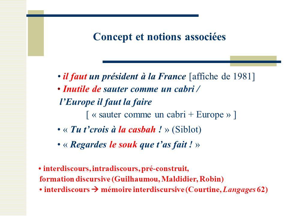 Concept et notions associées il faut un président à la France [affiche de 1981] Inutile de sauter comme un cabri / lEurope il faut la faire [ « sauter comme un cabri + Europe » ] « Tu tcrois à la casbah .