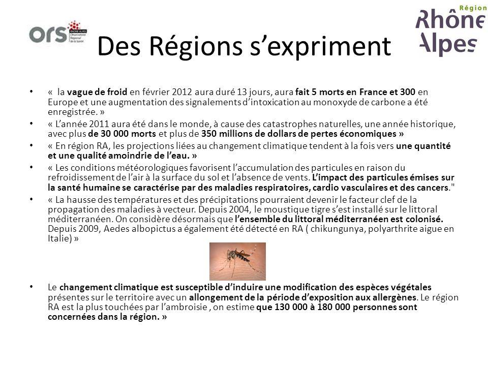 Des Régions sexpriment « la vague de froid en février 2012 aura duré 13 jours, aura fait 5 morts en France et 300 en Europe et une augmentation des si