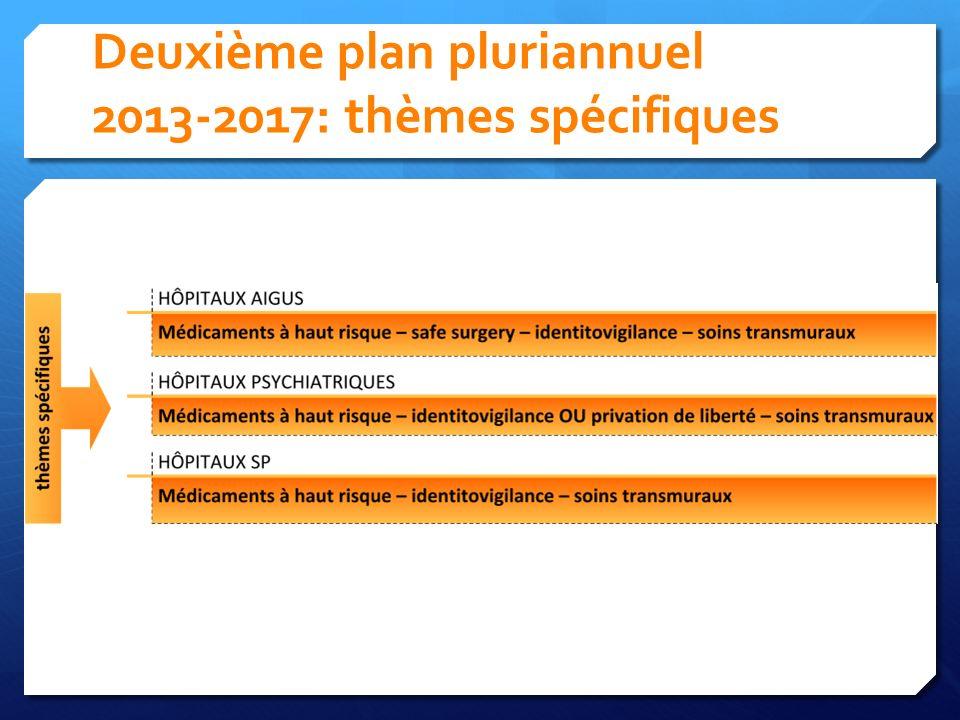 Deuxième plan pluriannuel 2013-2017: thèmes spécifiques