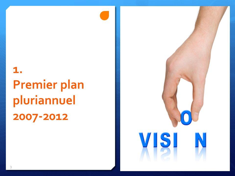 1. Premier plan pluriannuel 2007-2012 3