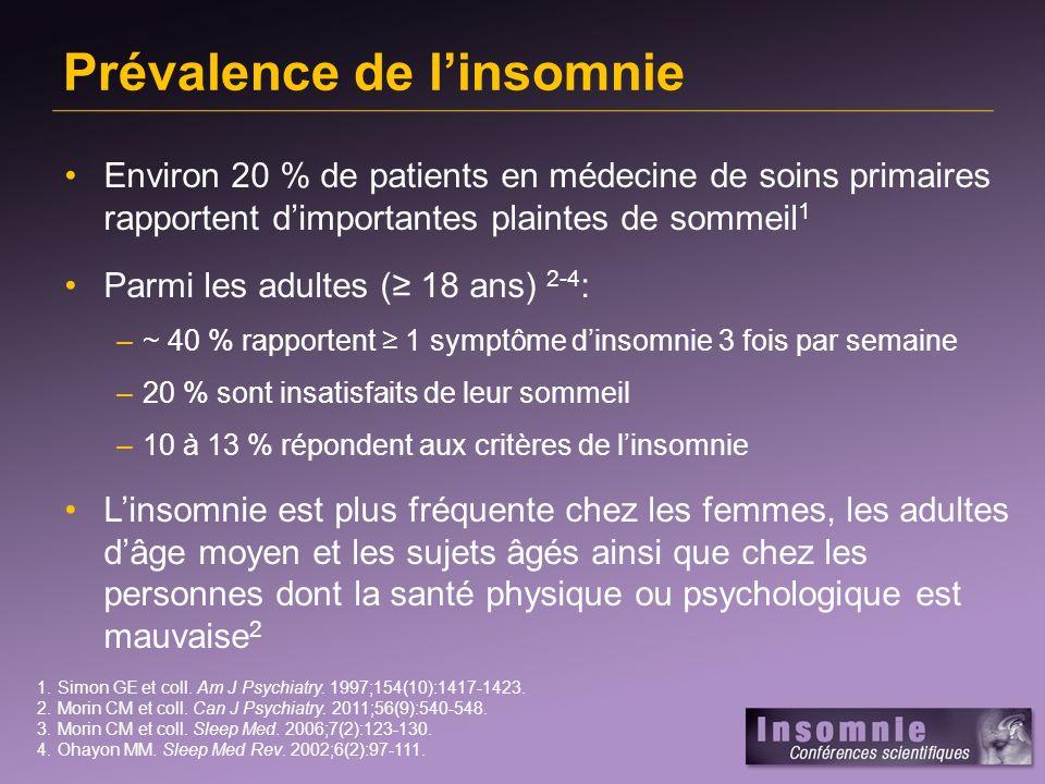 Statistiques canadiennes sur linsomnie 1 1.Morin CM et coll.