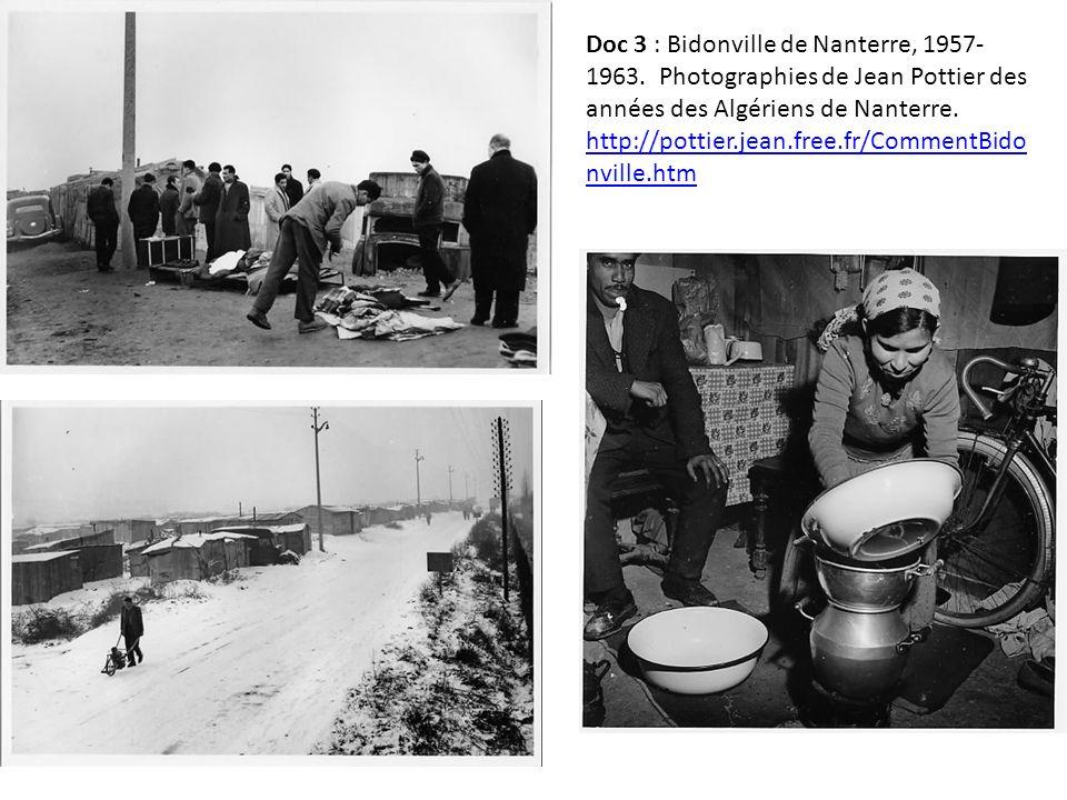 Doc 3 : Bidonville de Nanterre, 1957- 1963.