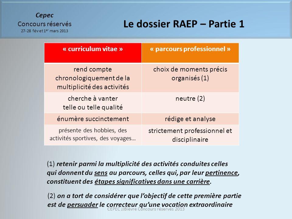 « curriculum vitae »« parcours professionnel » rend compte chronologiquement de la multiplicité des activités choix de moments précis organisés (1) ch