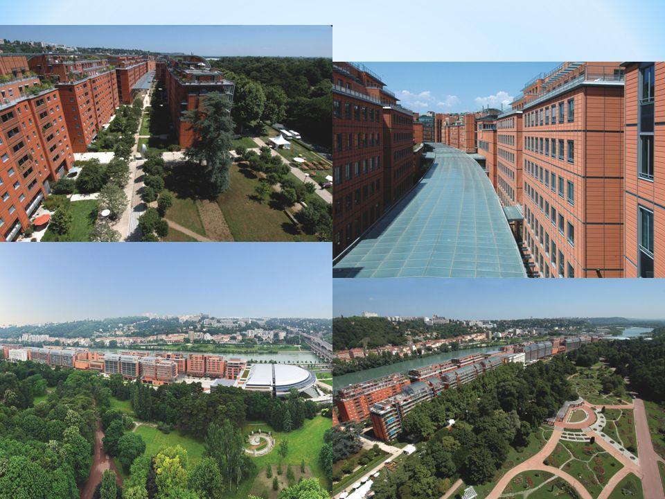 * La cité internationale est un quartier neuf de Lyon.