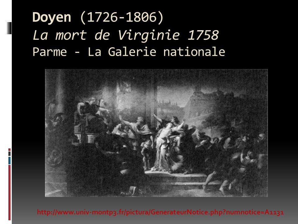 Doyen (1726-1806) La mort de Virginie 1758 Parme - La Galerie nationale http://www.univ-montp3.fr/pictura/GenerateurNotice.php?numnotice=A1131
