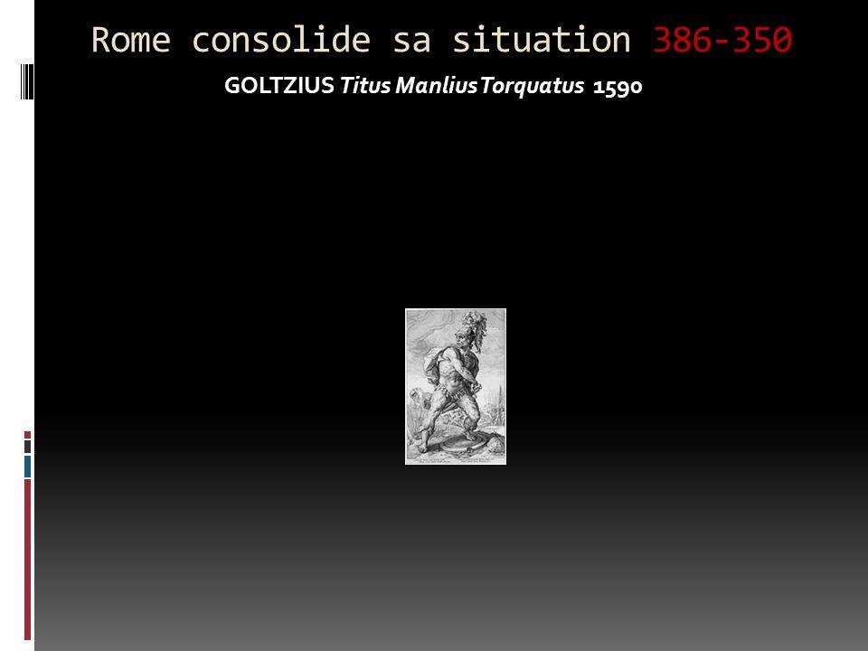 Rome consolide sa situation 386-350 GOLTZIUS Titus Manlius Torquatus 1590
