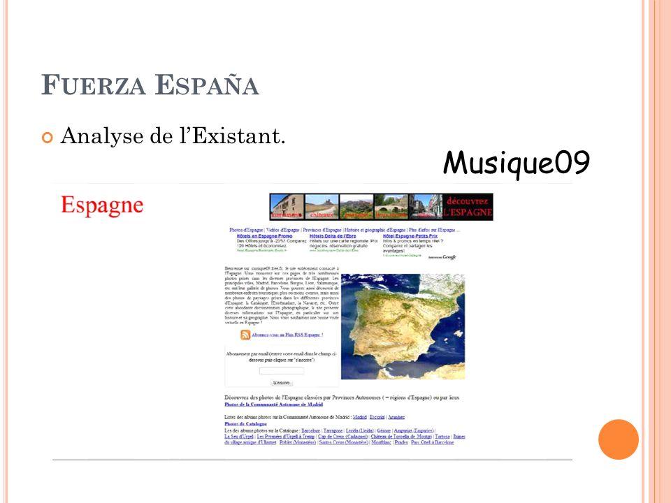 F UERZA E SPAÑA Analyse de lExistant. Musique09