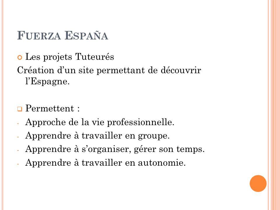 Les projets Tuteurés Création dun site permettant de découvrir lEspagne.