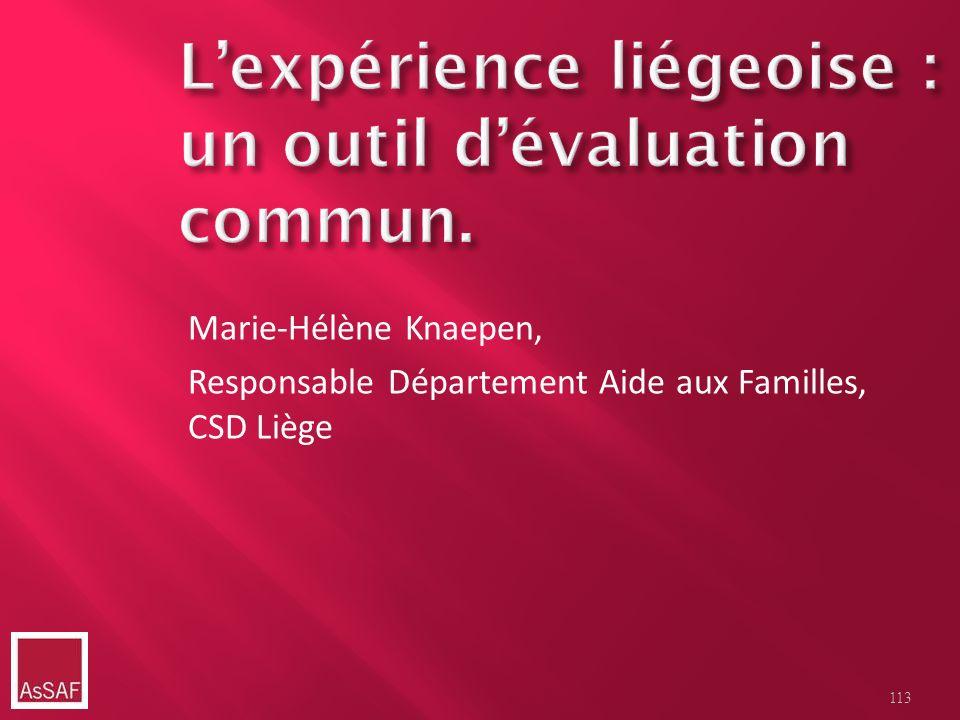 Marie-Hélène Knaepen, Responsable Département Aide aux Familles, CSD Liège 113