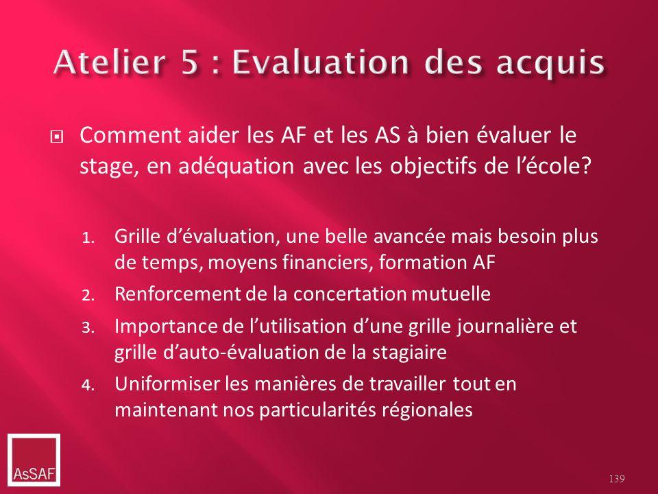 Comment aider les AF et les AS à bien évaluer le stage, en adéquation avec les objectifs de lécole? 1. Grille dévaluation, une belle avancée mais beso