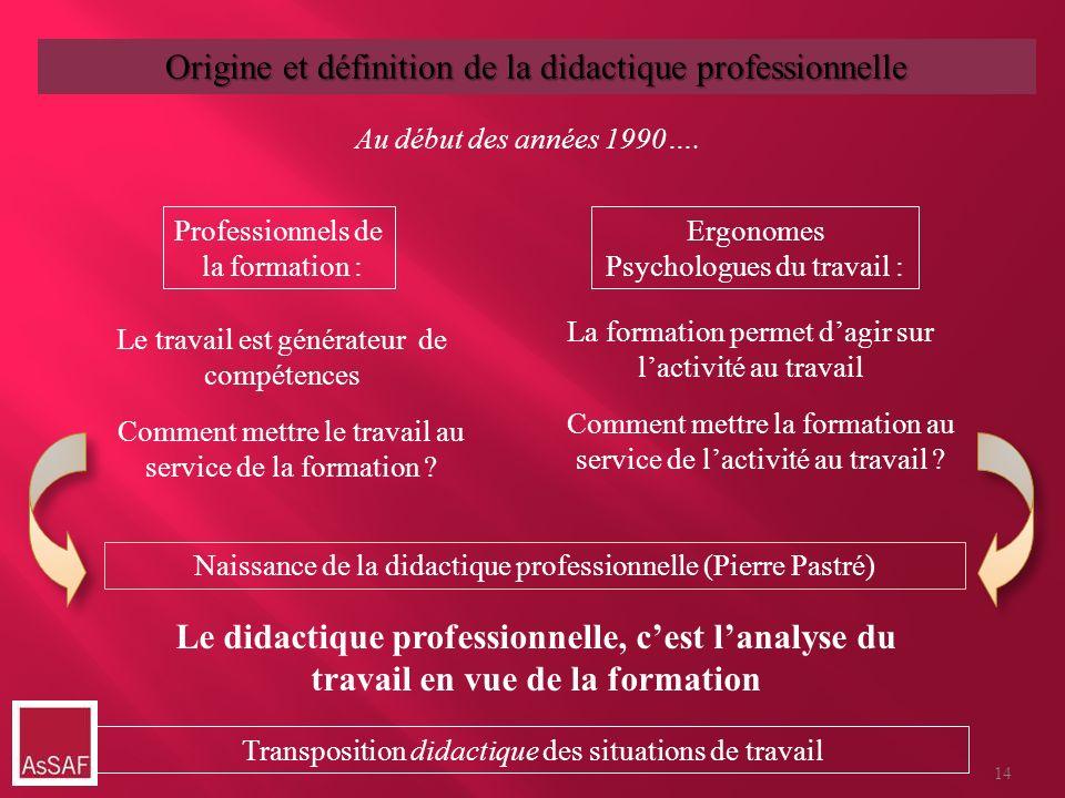 Professionnels de la formation : Ergonomes Psychologues du travail : Le travail est générateur de compétences La formation permet dagir sur lactivité