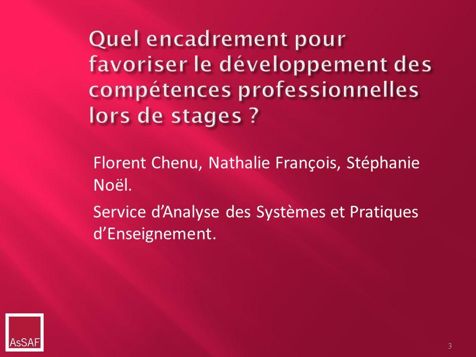 Florent Chenu, Nathalie François, Stéphanie Noël. Service dAnalyse des Systèmes et Pratiques dEnseignement. 3
