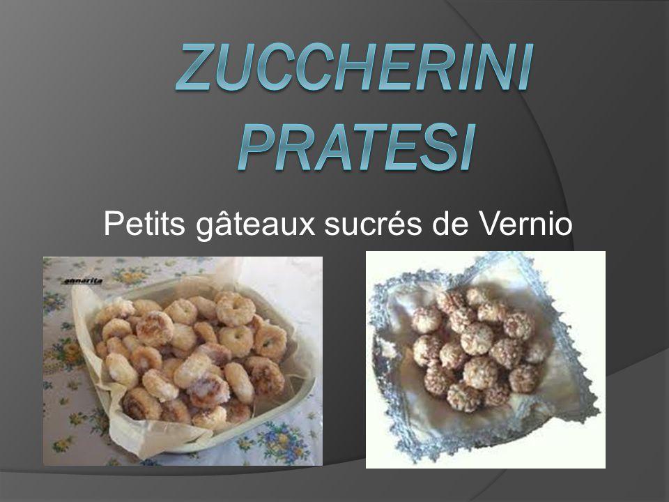 Petits gâteaux sucrés de Vernio