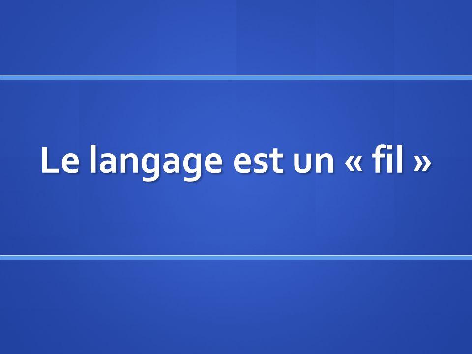 Le langage est un « fil »