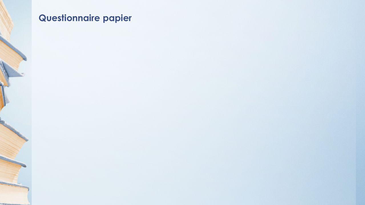 Questionnaire papier