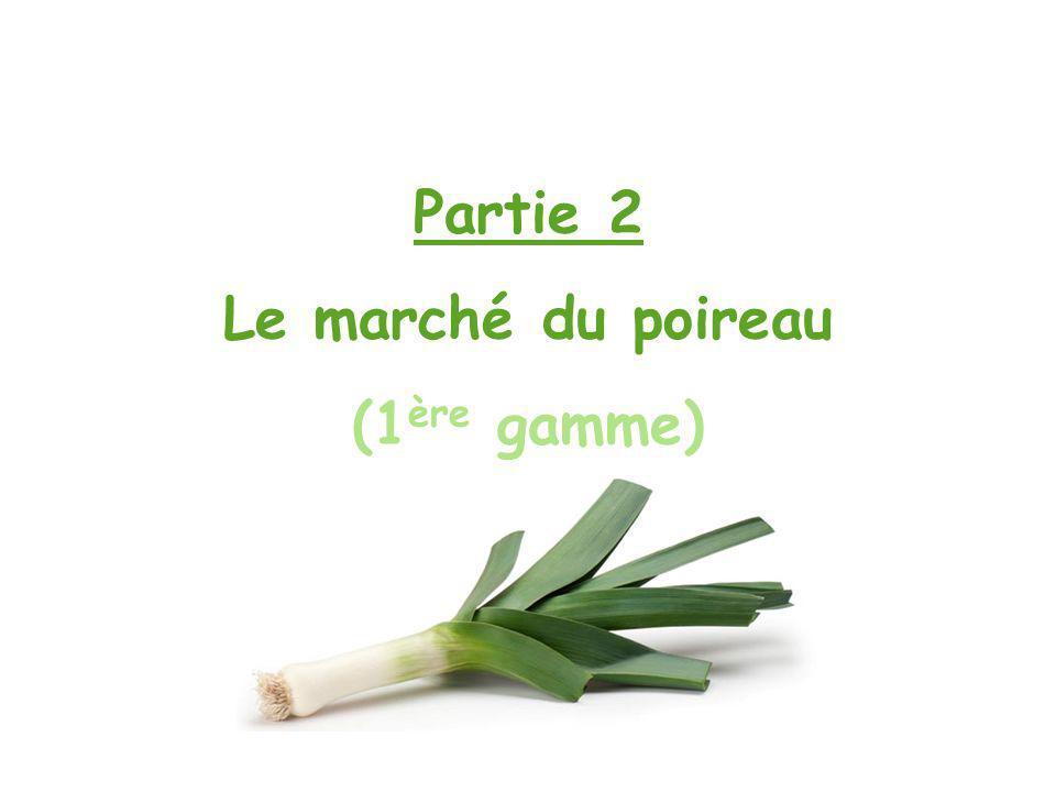 Partie 2 Le marché du poireau (1 ère gamme)
