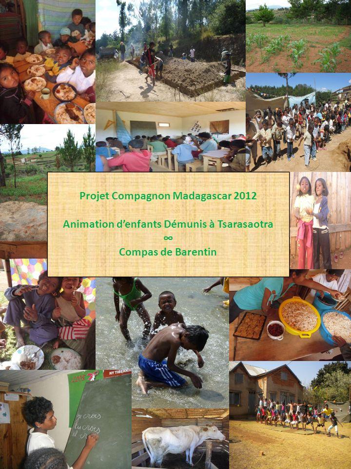 1 Projet Compagnon Madagascar 2012 Animation denfants Démunis à Tsarasaotra Compas de Barentin