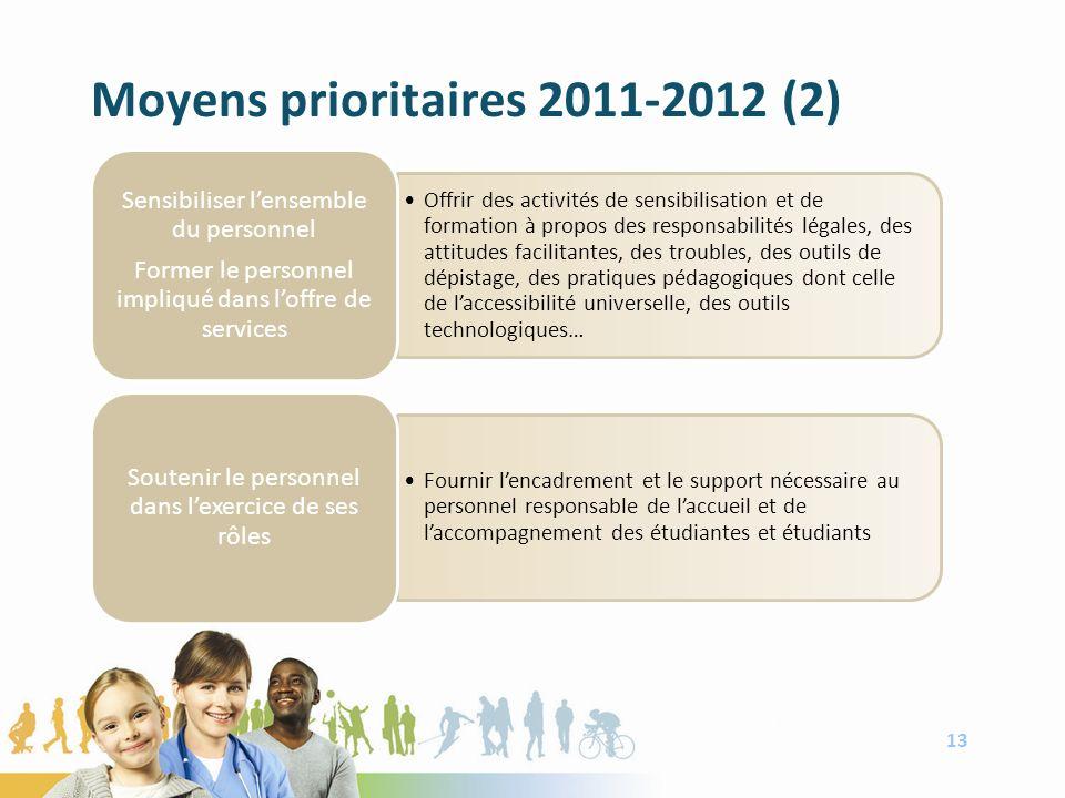 Moyens prioritaires 2011-2012 (2) 13