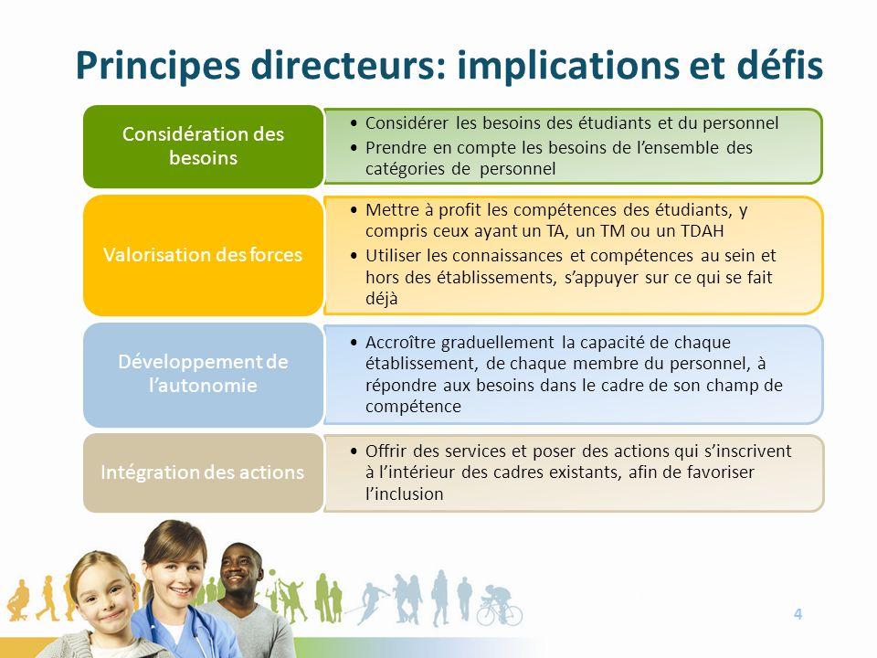 Principes directeurs: implications et défis 4