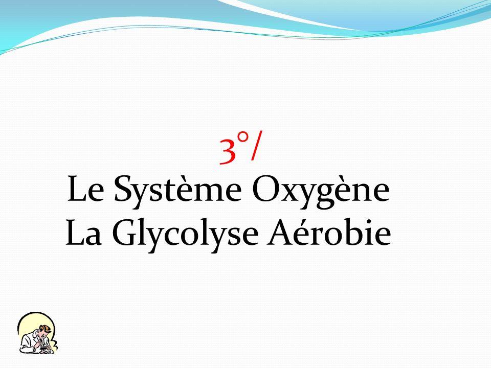 3°/ Le Système Oxygène La Glycolyse Aérobie