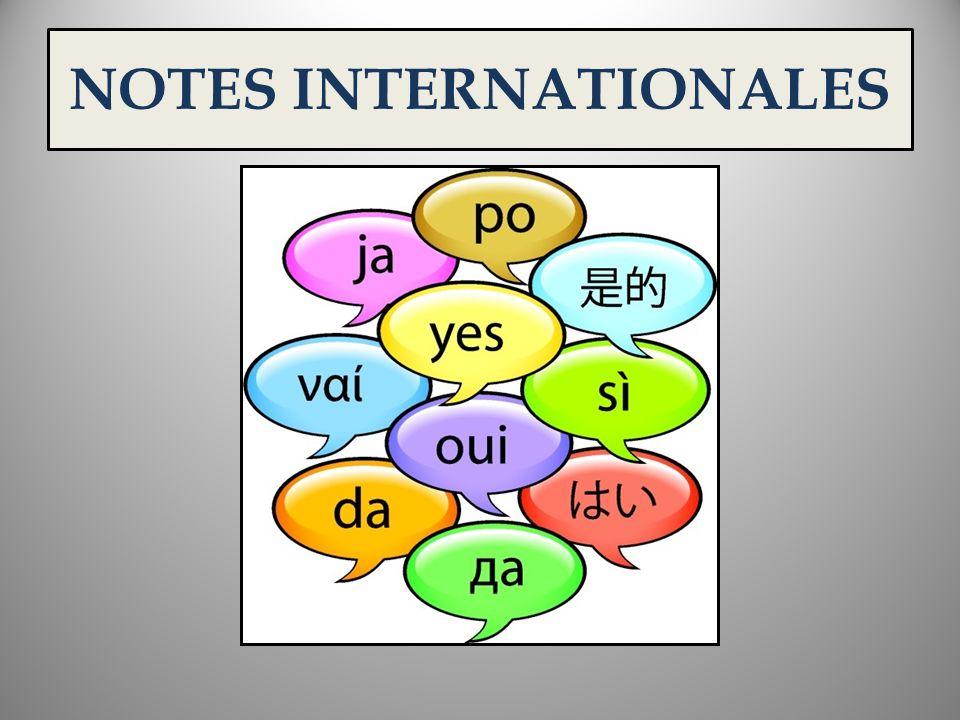NOTES INTERNATIONALES 1