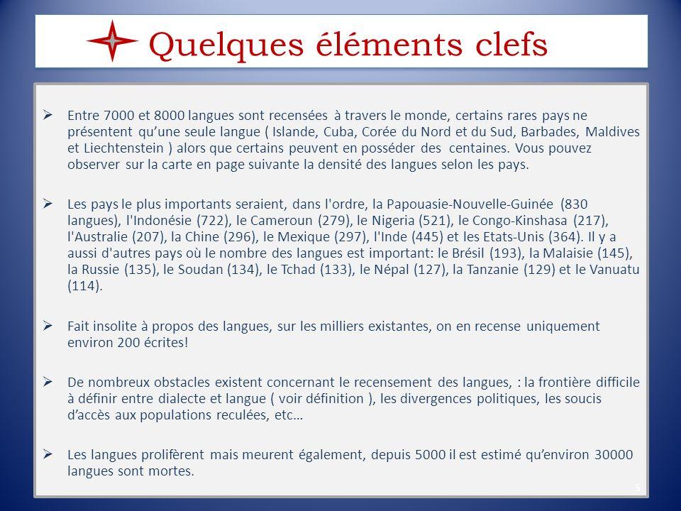 6 Sur ce camembert est représentée la répartition des langues par continent :
