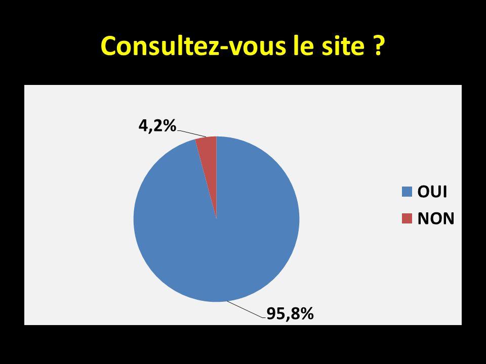 Seulement 4 % des personnes ayant répondu ne consultent pas le site.