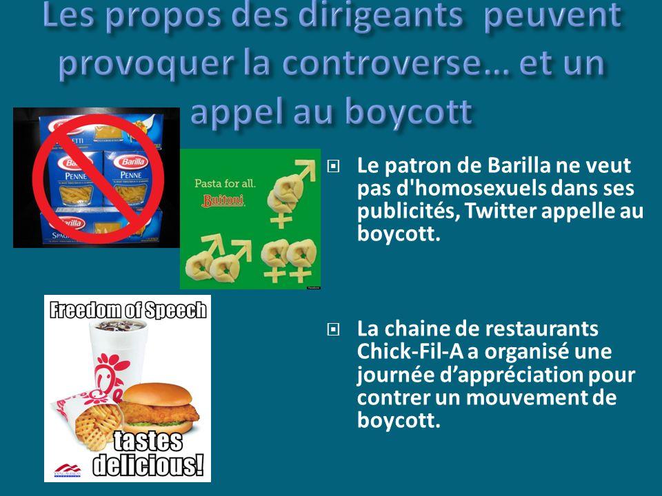 Le patron de Barilla ne veut pas d homosexuels dans ses publicités, Twitter appelle au boycott.