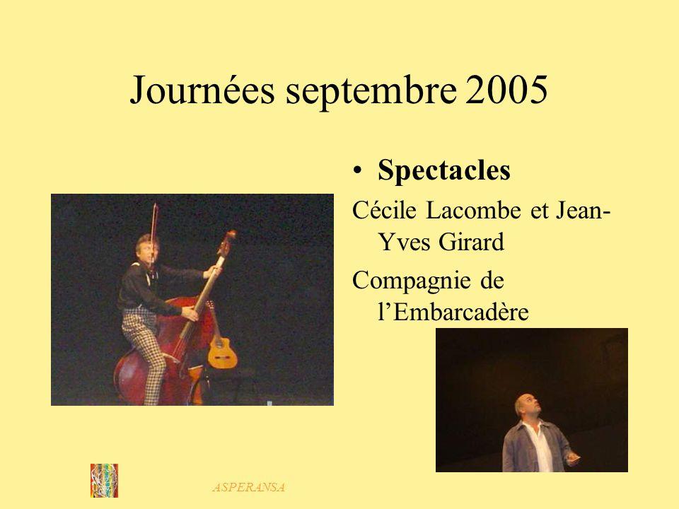 ASPERANSA Journées septembre 2005 Soutien dartistes de Camaret