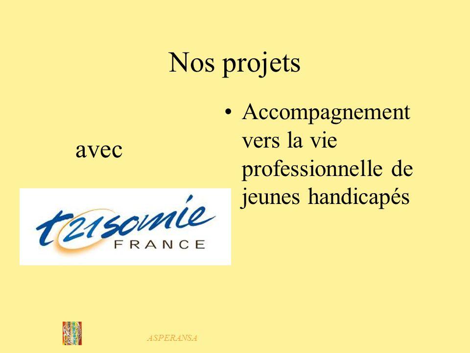 ASPERANSA Nos projets En collaboration avec Pierre le Hunsec Ateliers pratiques Préparation à la vie sociale