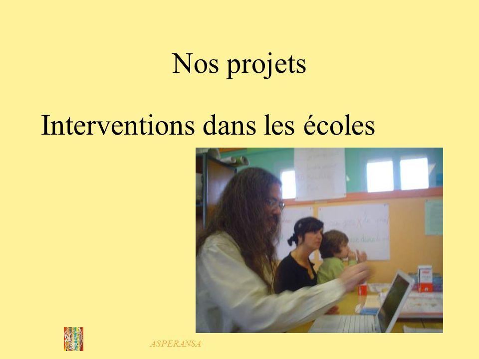 ASPERANSA Nos projets Pour accueillir en dehors des horaires des centres et des écoles : Une structure extra-scolaire Avec Planète Loisirs