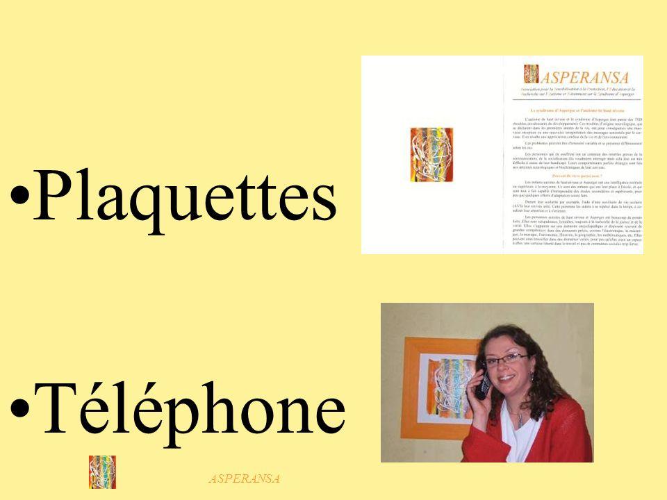 ASPERANSA Plaquettes Téléphone