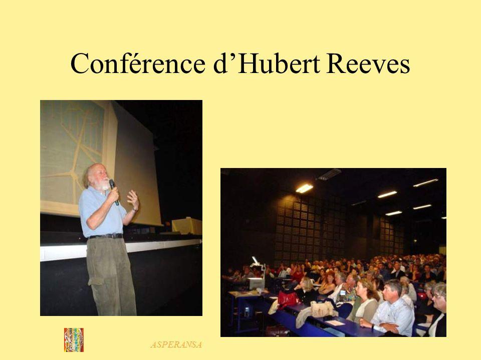 ASPERANSA Conférence dHubert Reeves