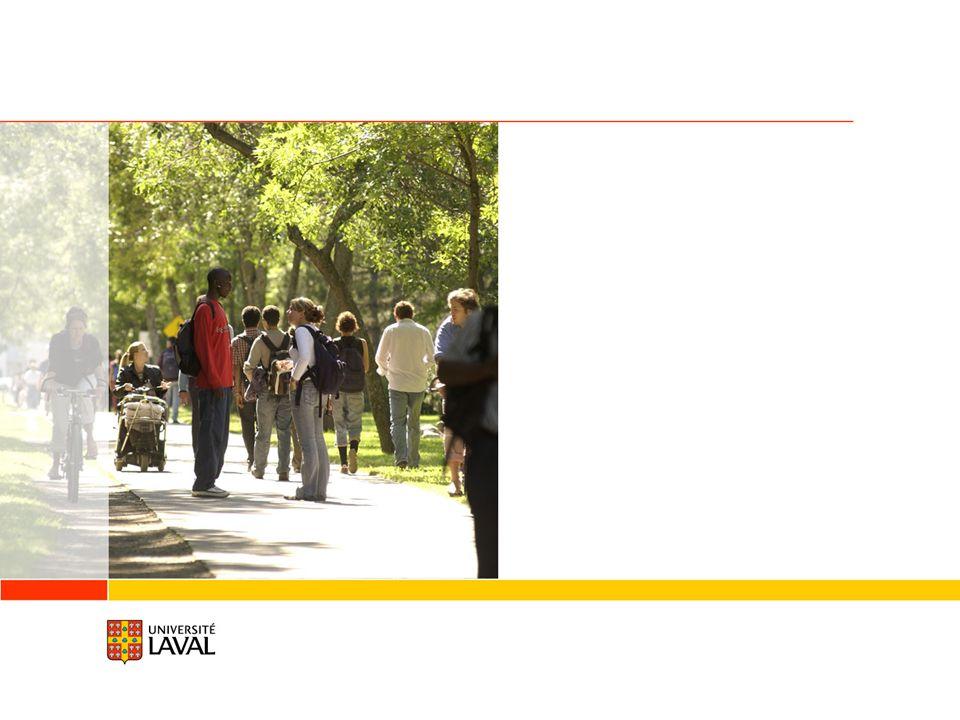 Une passion qui se partage Toute une histoire Au cœur dune ville unique : Québec Université Laval en bref Rayonnement international Système denseignement Études Recherche Milieu de vie La réussite se concrétise