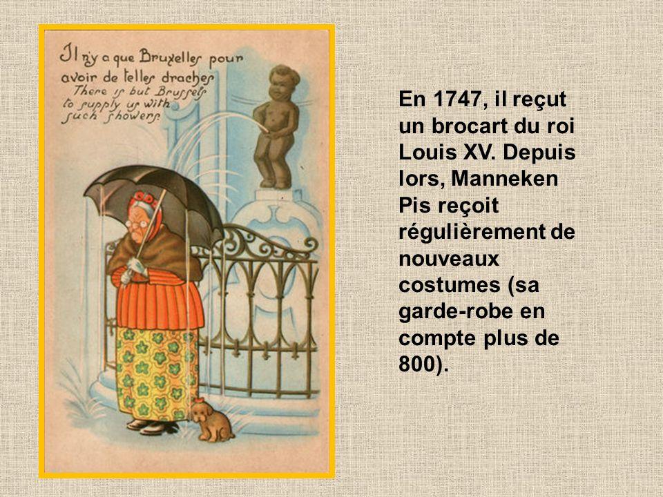 Cette tradition remonte à 1698, lorsque Maximilien II Emmanuel, gouverneur des Pays-Bas espagnols, offrit au petit bonhomme tout nu son premier costum