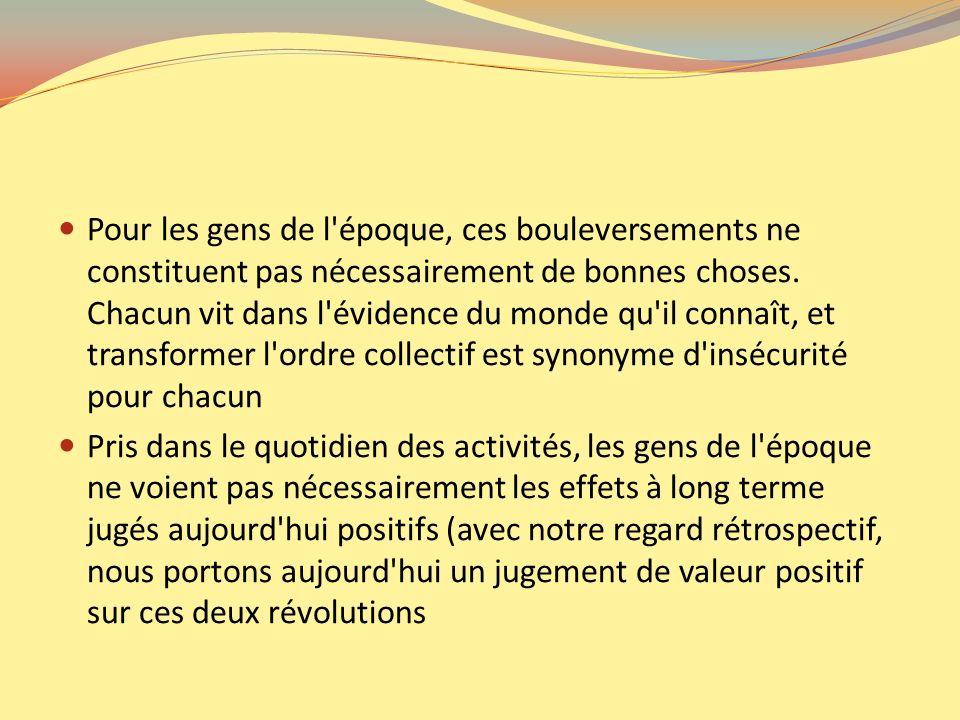 la Révolution Française signifiant la fin de l absolutisme et la Révolution industrielle signifiant - pour les occidentaux - la fin des pénuries Les premiers sociologues vivent dans cette époque de chaos où la nostalgie d un ordre collectif se conjugue avec l enthousiasme des réalisations possibles.