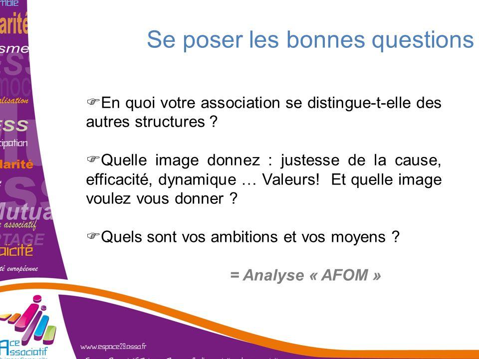 En quoi votre association se distingue-t-elle des autres structures ? Quelle image donnez : justesse de la cause, efficacité, dynamique … Valeurs! Et