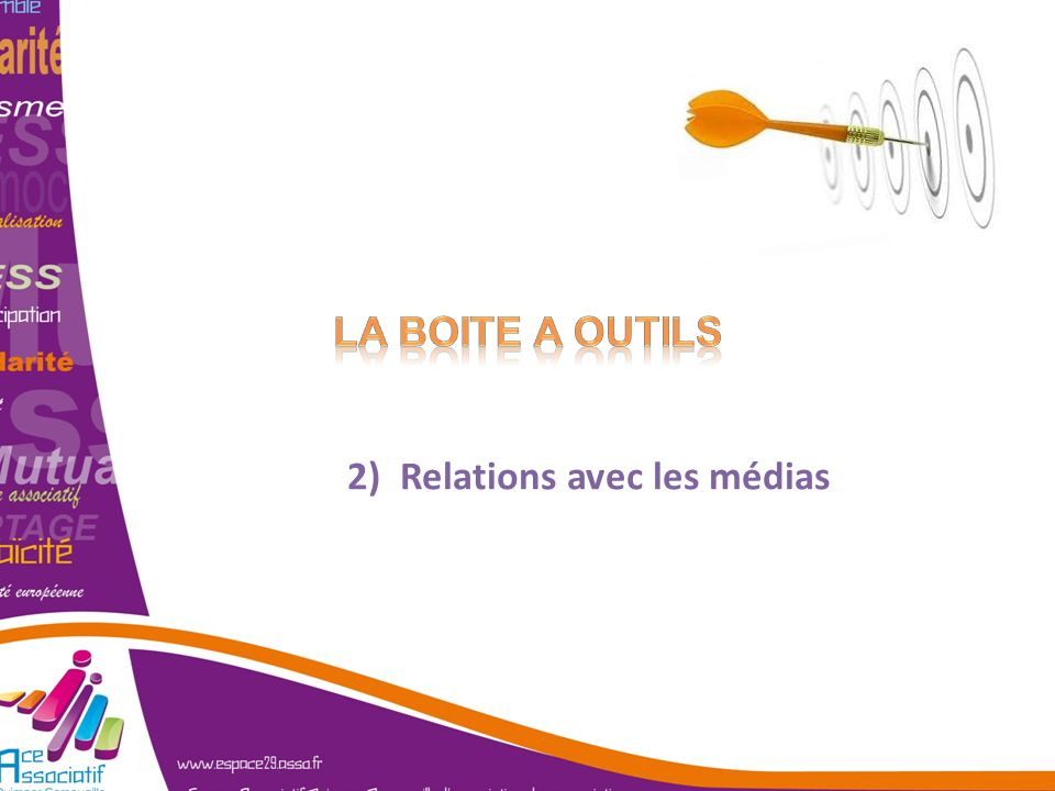 2) Relations avec les médias