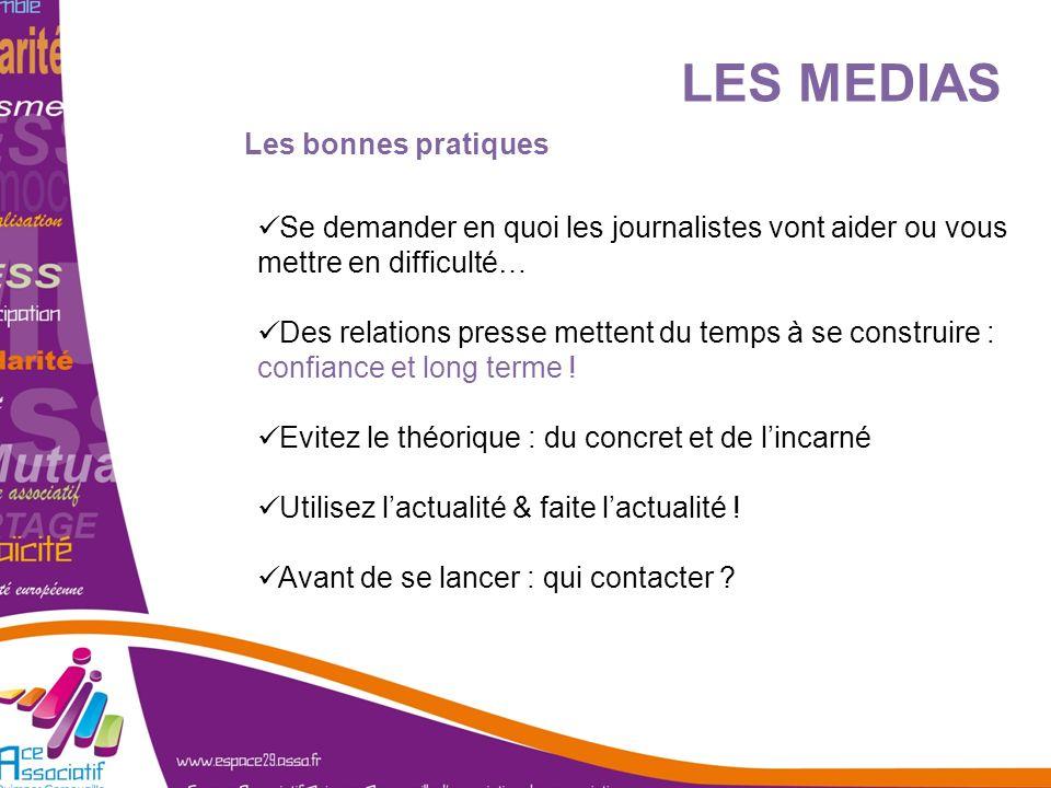 Les bonnes pratiques Se demander en quoi les journalistes vont aider ou vous mettre en difficulté… Des relations presse mettent du temps à se construi