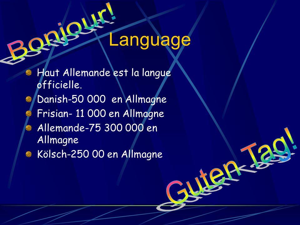 Language Haut Allemande est la langue officielle.