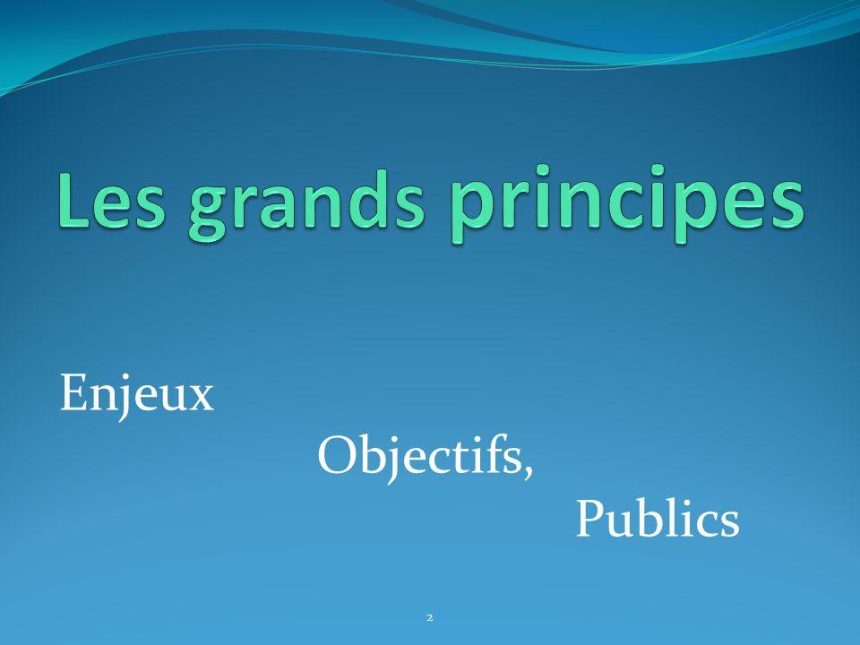 Enjeux Objectifs, Publics 2