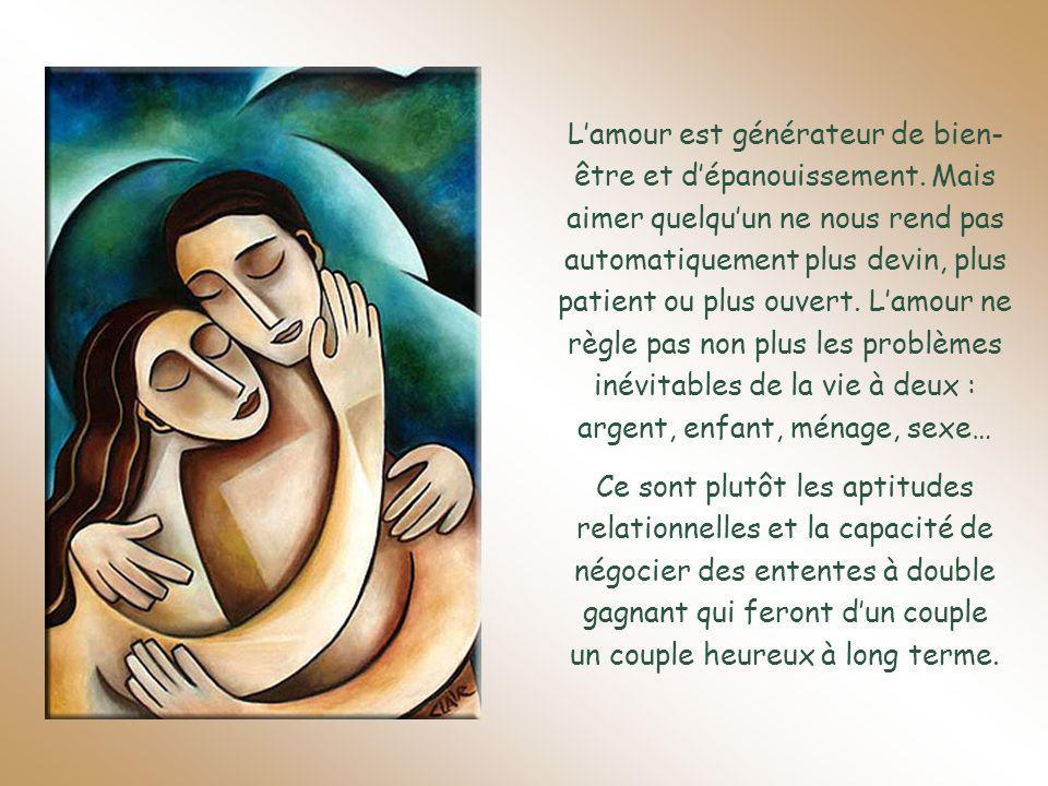Lamour est générateur de bien- être et dépanouissement.