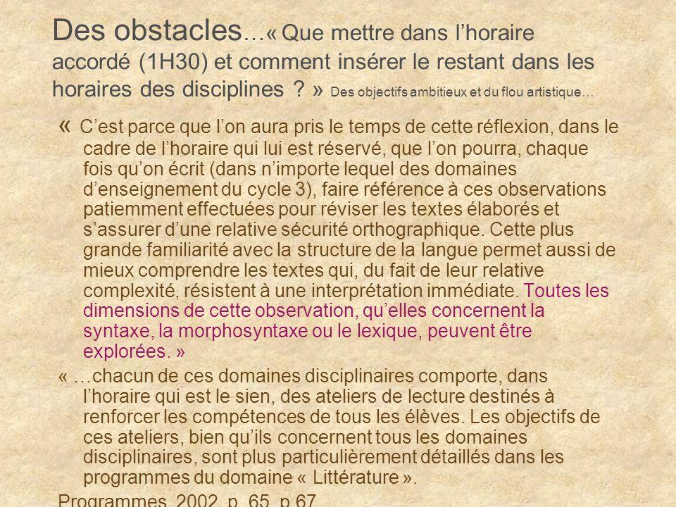 Partir dun obstacle : un exemple d activité 1 Il essaya de se relever: cétait au-dessus de ses forces.