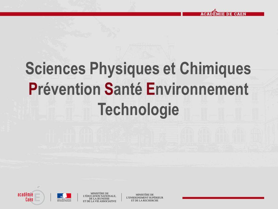 Sciences Physiques et Chimiques Prévention Santé Environnement Technologie