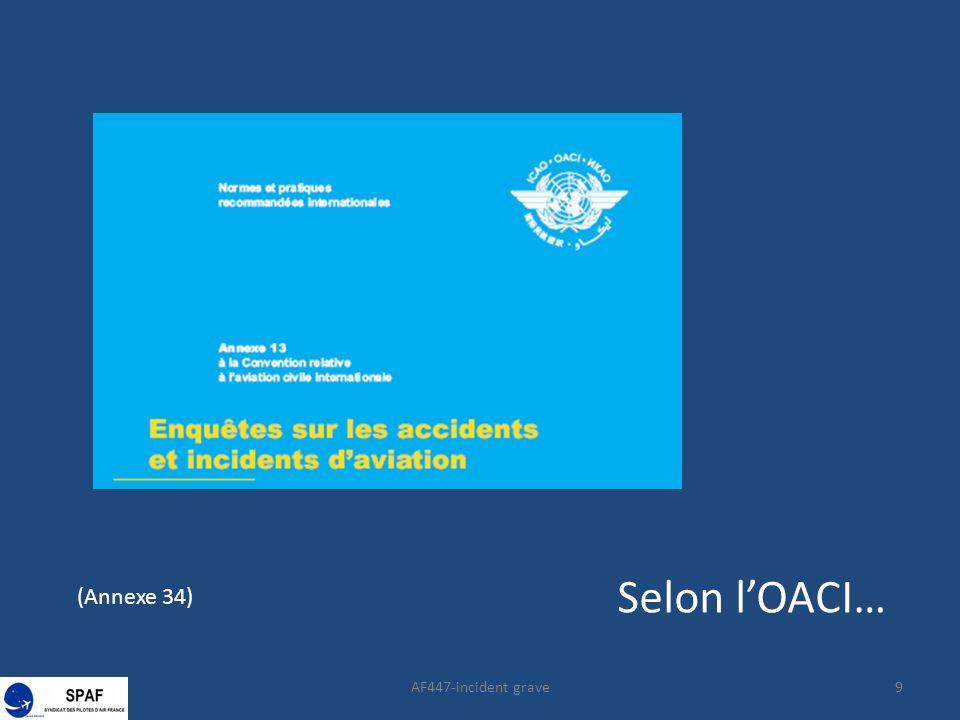 AF447-incident grave30 (annexe 13) (extrait)