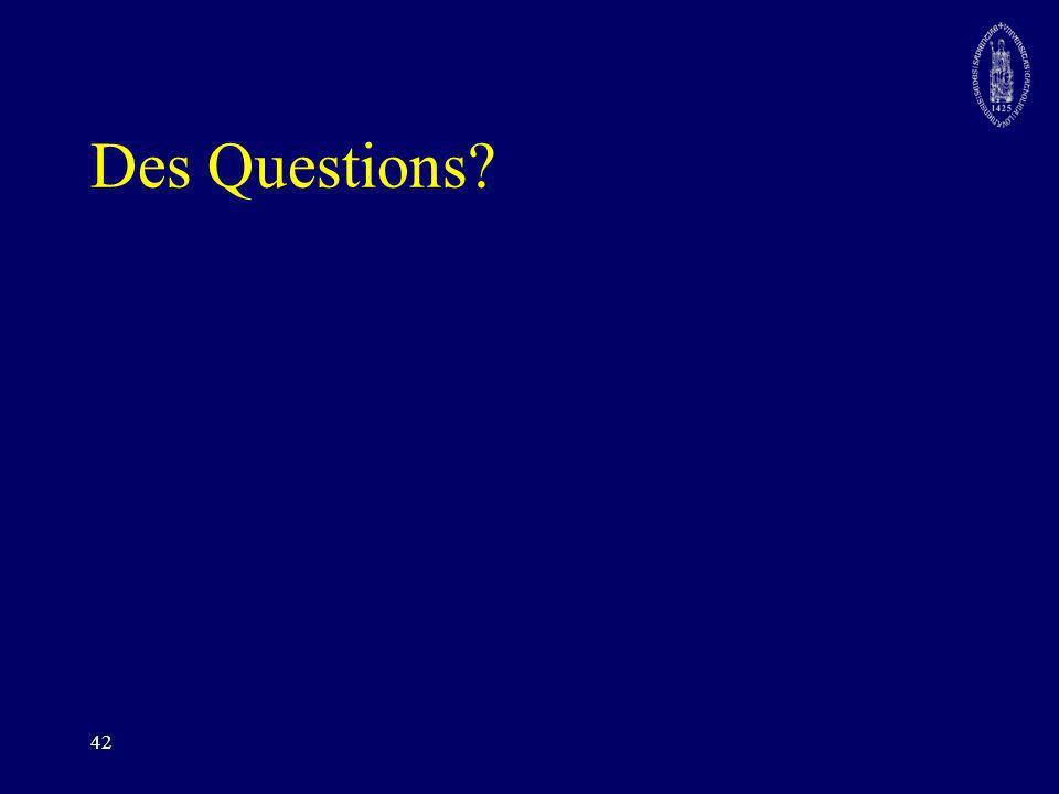 42 Des Questions?