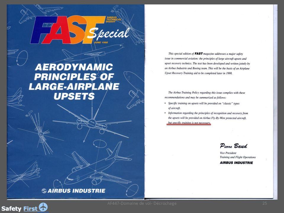 AF447-Domaine de vol- Décrochage25