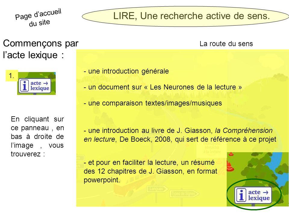 LIRE, Une recherche active de sens.2.